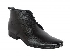 George Adam Mens Synthetic Leather Office Black Boots (code - 16030_black_office_boots) - By Location