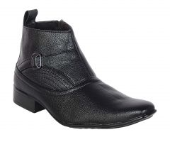 George Adam Mens Synthetic Leather High-Class Rapid Action Black Boots (Code - 2801_black_rapid_action)