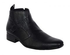 George Adam Mens Synthetic Leather High-Class Bold Look Black Boots (Code - 2803_black_bold_look_pu)