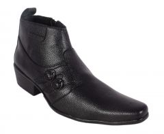 George Adam Mens Synthetic Leather High-Class Black Boots (Code - ch_15003_black)