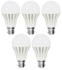 Bgm LED Bulb 9w Bright White Light LED Bulb Saving Energy 1 Set Of 5 PCs