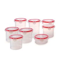 Incrizma Keep Fresh Polypropylene (pp) Round Containers (8 Pcs)