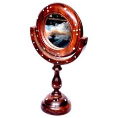 Onlineshoppee Home Decor & Furnishing - Onlineshoppee Antique Fancy Design Handicraft Brown wooden Mirror Stand AFR1505