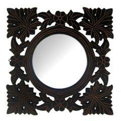 Onlineshoppee Home Decor & Furnishing - Onlineshoppee Wooden Antique With Handicraft Work Fancy Design Mirror Frame AFR1897