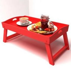 Onlineshoppee Home Decor & Furnishing - Onlineshoppee Wooden Lap With Foldable Legs Solid Wood Tray Size-lxbxh-20x12x9 Inch