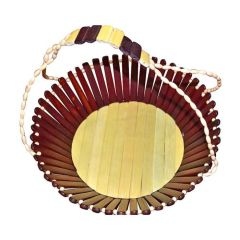 Onlineshoppee Wooden Fruit Basket With Handle AFR270