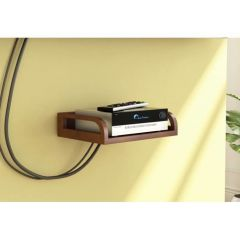 Gift Or Buy Onlineshoppee Wooden Beautiful Design Set top box Wall Shelf Colour-Brown AFR2766
