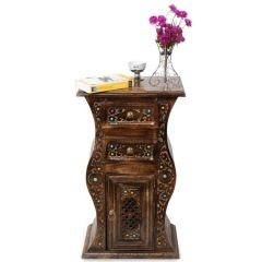 Onlineshoppee Home Decor & Furnishing - Onlineshoppee Wooden Hand Carved Cabinet With Unique Design AFR413