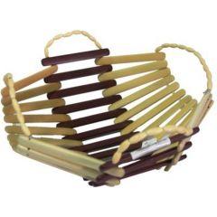 Onlineshoppee Wooden Bamboo Fruit & Vegetable Basket With Handle AFR631