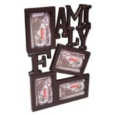 Onlineshoppee Wooden And Antique Wall Hanging Family Photo Frame 4 In 1 AFR687