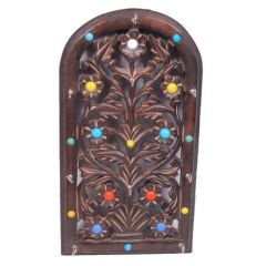 Onlineshoppee Wooden Key Holder With Handicrafts Design AFR907
