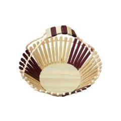 Onlineshoppee Kitchen Utilities (Misc) - Onlineshoppee Wooden Fruit Basket With Handle CA348A