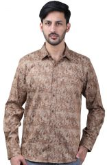 Favio Men's Slim Fit Full Sleeve Shirt Cotton Abstract Clay Print