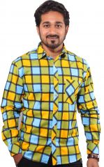 FAVIO TURMERIC YELLOW CASUAL SHIRT