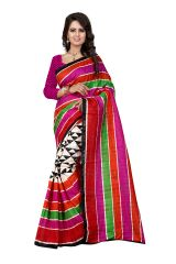 Multi Retail Multi Bhagalpuri Party Wear Embroidery Saree With Unstitched Blouse-C4SE18BI