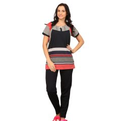 De'Moda Women's Striped Night Suit (Code - DM9698-1-DM)