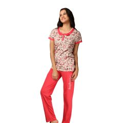 De'Moda Women's Floral Night Suit (Code - DM9717-1-DM)