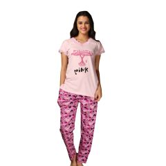 De'Moda Women's Pink Night Suit (Code - DM9718-1-DM)