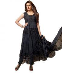 Stylish Girl Designer Black Party Wear Anarkali Suit