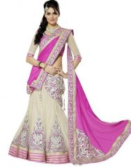 Surat Tex Pink Embroidered Lehenga Choli With Georgette Blouse_f257la3306ha