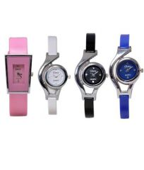 Fancy Glory Watches Combo Of 4 Multicolour Analog Watch For Woman