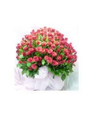 Gifts Valley 200 Red Roses Basket Gift Items