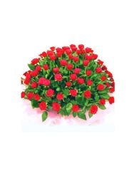 Gifts Valley 100 Red Roses Basket Gift Items