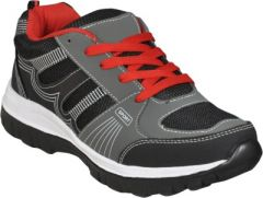 Jollify ADR Black and Red Cricket Shoes