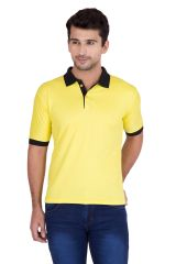 Jollify Men's Polo Collar Yellow T-Shirt(PRODUCT CODE-TSCONTRASTYELLOW_)