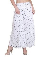 Palazzo pants - Jollify Regular Fit Women's White Plazzo(PPZ005WHT-)