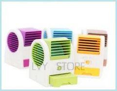 Battery USB Fan Fragrance Fan Mini Leaves Air Conditioning Fan Air Conditioner