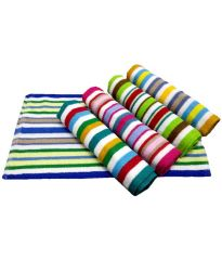 Milap Multocolor Cotton Hand Towel Set of 5 Pcs