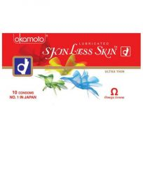 Okamoto Skinless Skin Ultra Thin (world's Thinnest Condom) X 5