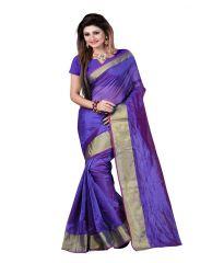 AAR VEE Blue Colour Art Silk & Beige Colour Lace Border Saree RVA10011