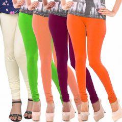 Vivan Creation Women Stylish Colorful Comfortable 5 Pc Cotton Churidaar Leggings Set  (Product Code - DL5COMB726)