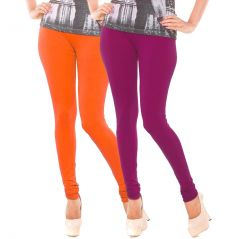 Vivan Creation Stylish Comfortable n Colorful Pair of Women Cotton Churidaar Leggings  (Product Code - DL5COMB736)