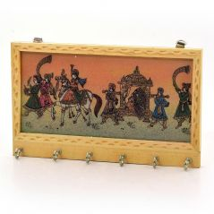 Vivan Creation Gemstone Painting 6 Key Hanger Handicraft Gift 213