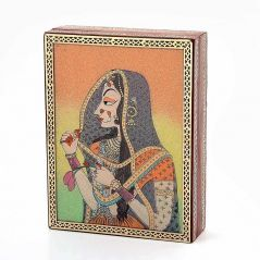 Vivan Creation Gemstone Powder Bani Thani Painting Wooden Box 259