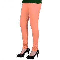 Vivan Creation Women Stylish Sexy Peach Color Comfortable Cotton Churidaar Leggings  (Product Code - DLI5LCH206)