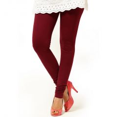 Vivan Creation Women Stylish Sexy Brown Color Comfortable Cotton Churidaar Leggings  (Product Code - DLI5LCH218)