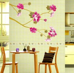 Decals Arts Pink Plum Flower Living Room Wall Stickers