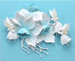 Decals Arts Hand painted Flowers and Fairies 3D Embossed Painting