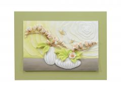 Decals Arts Hand painted Flowers on the Window 3D Embossed Painting