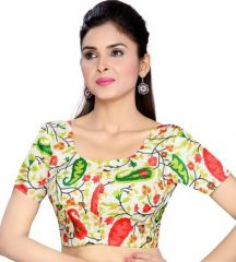 Bhuwal fashion designer Bhagalpuri Silk  Multicolour blouses (Unstitched Fabric) 93Blouse