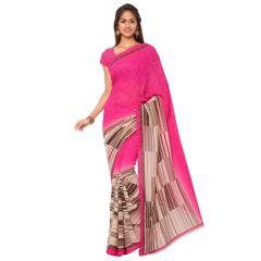 Bhuwal Fashion Pink Georgette Printed Formal Saree (BFDNA1109C)