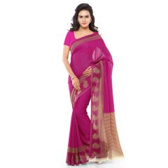 Georgette Sarees - Bhuwal Fashion Magenta Georgette Printed Formal Saree (BFDNA1168C)