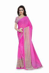 Bhuwal Fashion Pink Georgette Printed Formal Saree (BFDNA1186C)