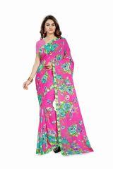 Bhuwal Fashion Pink Georgette Printed Formal Saree (BFDNA1192C)