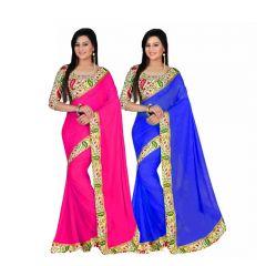 Bhuwal Fashion Multicoloured Bhagalpuri Silk Saree Combos(combo206)