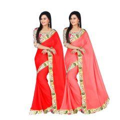 Bhuwal Fashion Multicoloured Bhagalpuri Silk Saree Combos(combo208)